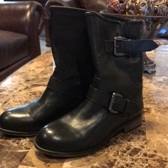 7c77f2f406 Steve Madden Leather Moto Boots